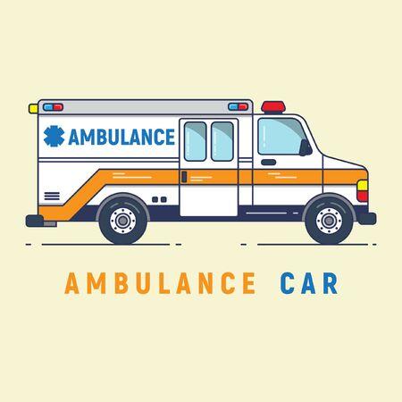 ambulance in the form of cartoon toys Ilustração
