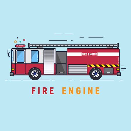 fire engine for extreme fire events Illustration