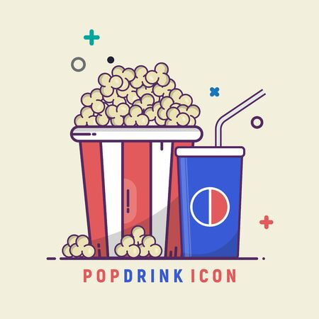 a set of snacks and drinks in the theater