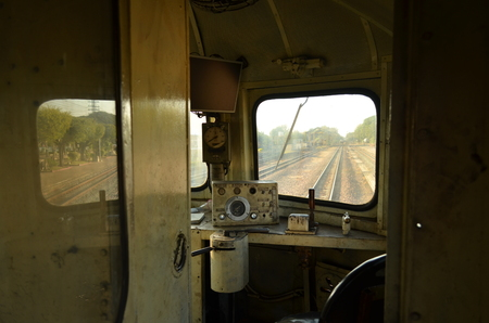 The cabin of the train 스톡 콘텐츠