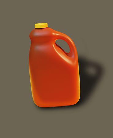 oj: Bottle is hand sculpted from foam, unique design. Stock Photo