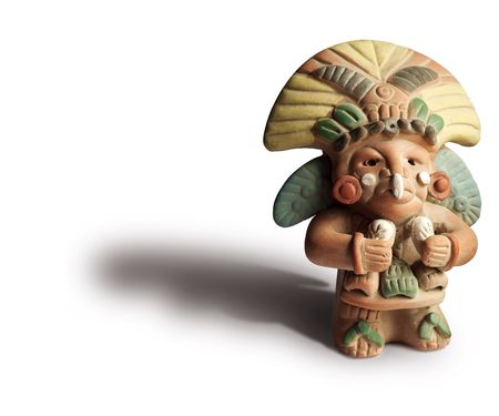 Small Aztec Figurine.