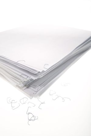 A sheaf of paper stacked randomly. Stock Photo - 5031059