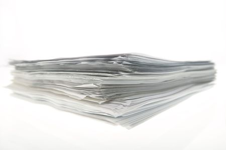 A sheaf of paper stacked randomly. Stock Photo - 5031055