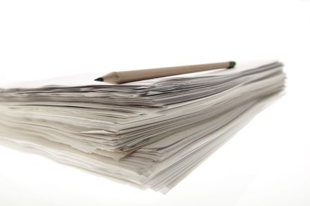 A sheaf of paper stacked randomly. Stock Photo - 5031074