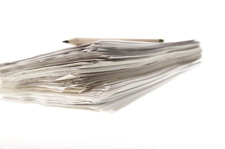 A sheaf of paper stacked randomly. Stock Photo - 5031071