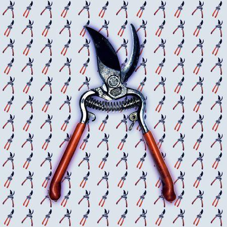 malandros: Primavera cargado cizallas jard�n. A menudo utilizado por matones de la pel�cula en el recorte creativa.  Foto de archivo