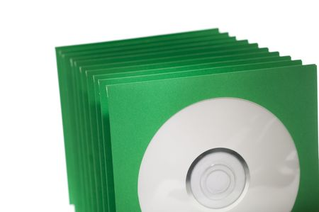Stack of paper cd or dvd sleeves. photo
