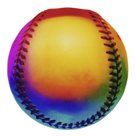 Many regulation baseballs are made from horse hide. Imagens