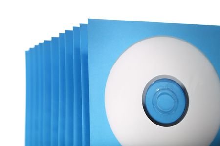 Stack of paper cd or dvd sleeves.