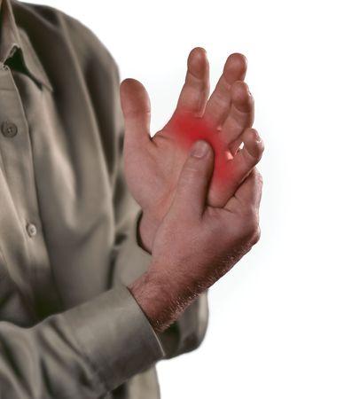 douleur main: Douleur arthritique dans les articulations des knuckles.