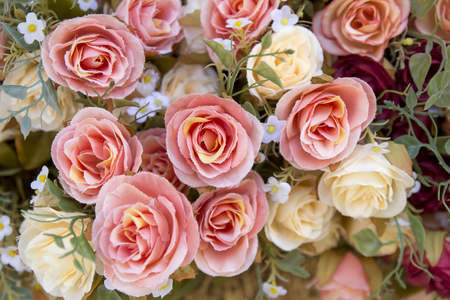 roses made from beautiful fabrics stock photo, picture and royalty