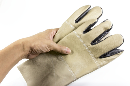 Protective gloves isolated on a white background photo
