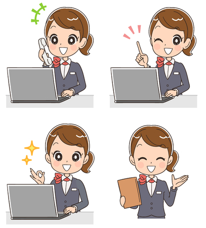 Business woman using a personal computer