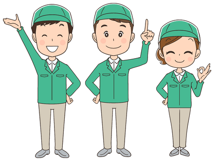 Courier service team Illustration
