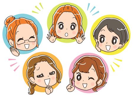 The female group enjoying.