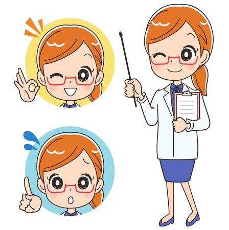 female scientist: The female doctor is informed. With the icon