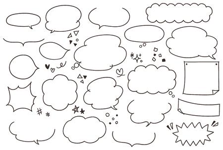 Nette und handgemalte Rede Blasensammlung