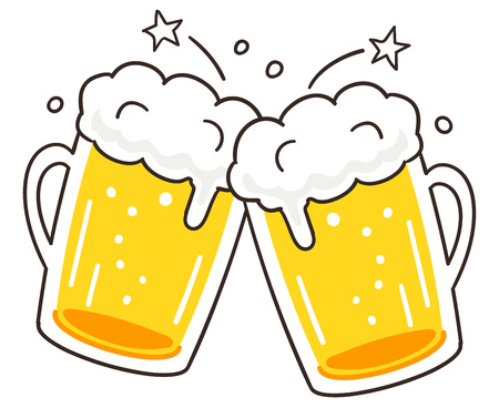 Cheers beer  イラスト・ベクター素材