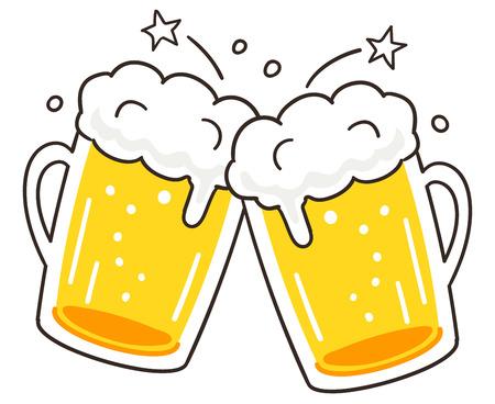 Cheers beer 일러스트