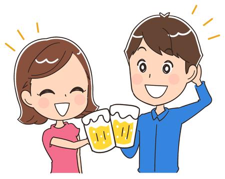 ビールとカップル 写真素材 - 80392732