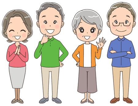 高齢者のグループ。