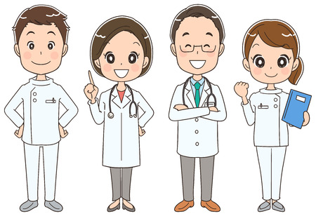 Medical team with four people