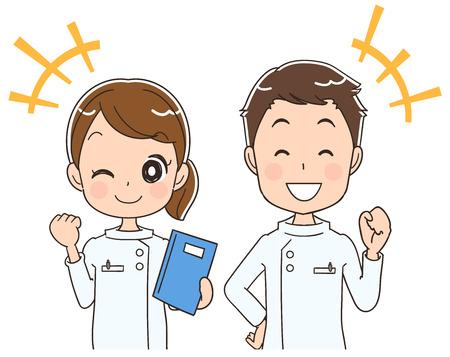 男性と女性の看護師