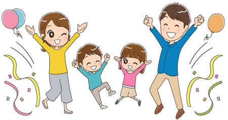 Family having fun Vectores