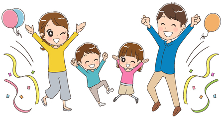 Family having fun Stock Illustratie