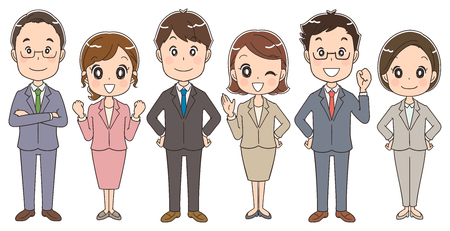 A team of businessmen and businesswomen