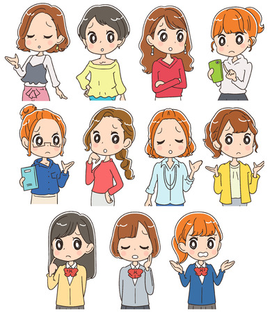 Collection of women of various generations