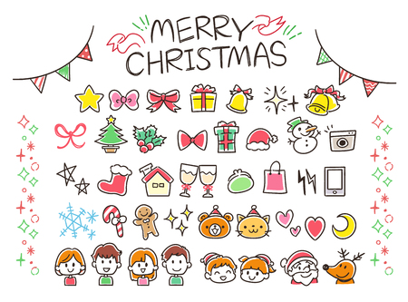 Christmas Handwriting Style icon collection
