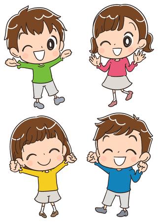 Children having fun 일러스트