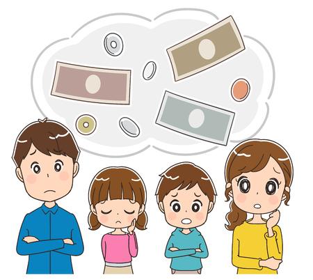 Rodzina martwi się o pieniądze.
