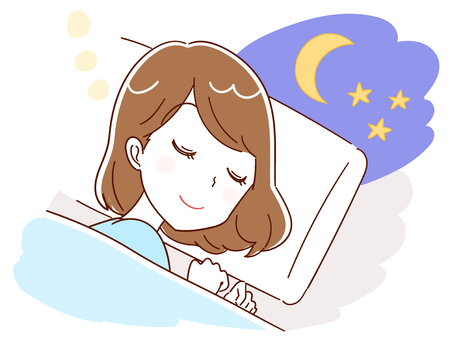 A woman is asleep Vector illustration.