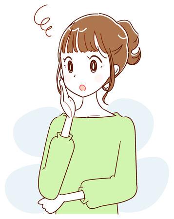 Worried woman illustration