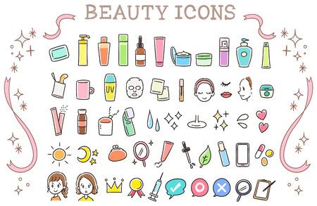 Collectie set van schoonheid iconen Stockfoto - 99145610