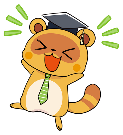 Cute raccoon characters rejoice