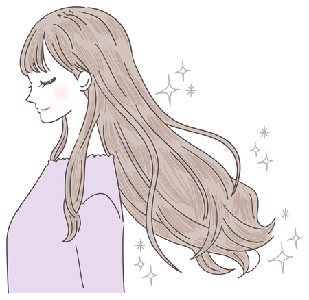 Young lady's hair is beautiful