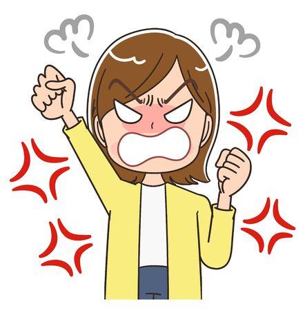 Young woman wearing a yellow cardigan.She has negative emotions.
