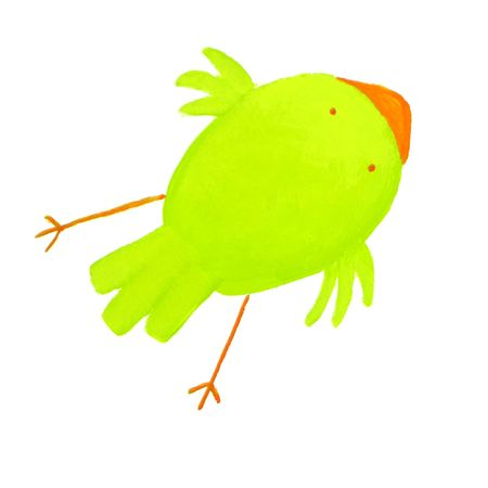 abstract green bird Stock Photo - 4815522