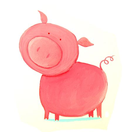 abstract pink pig
