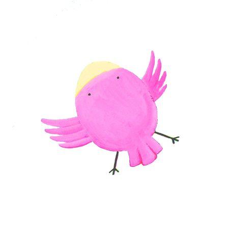 abstract purple bird