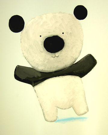 funny baby panda  Stock Photo