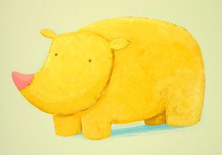 baby rhino Stock Photo - 4815553