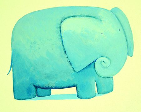 big picture:  blue elephant          Stock Photo