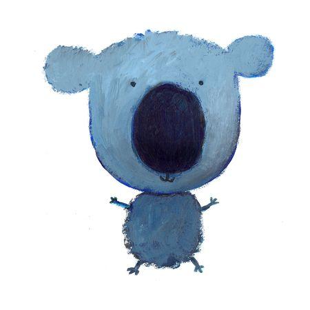 happy blue koala