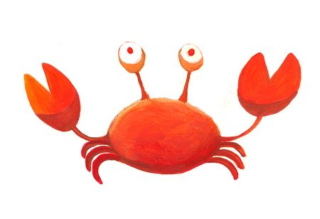 funny picture: red crab  Stock Photo