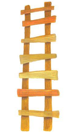 escaleras: escalera de madera